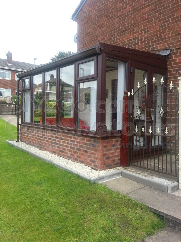 Rosewood Lean to Traditional DIY Conservatory