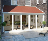 Lean-to Solid Roof