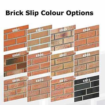 Conservatories brick slip colour options