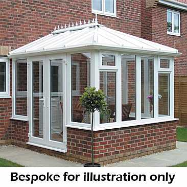 Edwardian Steel Base and Dwarf Wall Conservatory