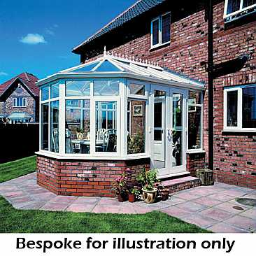 Victorian Steel Base UPVC Conservatory