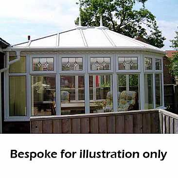 Victorian conservatory dwall wall double hipped roof