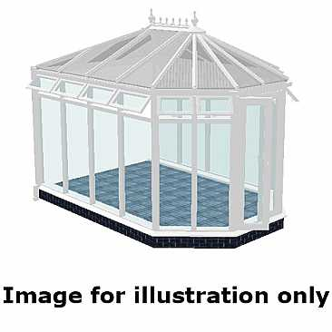 victorian doublle hipped conservatory steel base