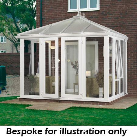 bespoke edwardian glass to ground conservatory