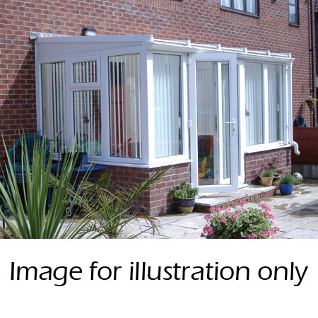 Lean to dwarf wall conservatory
