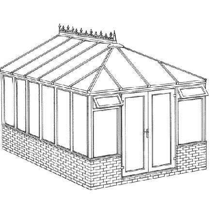 Interest Free Credit Edwardian Dwarf Wall DIY Conservatory 3158mm width x 4568mm projection