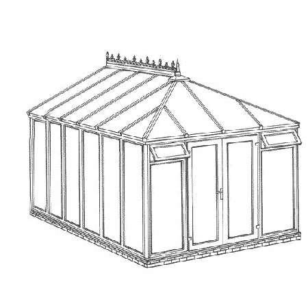 Edwardian Full Height DIY Conservatory 3158mm width x 4568mm projection