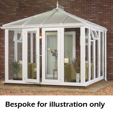 Edwardian full height DIY Conservatory 3500mm (d) x 4000mm (w)