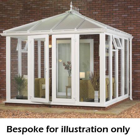 Edwardian full height DIY Conservatory 4000mm (d) x 4500mm (w)