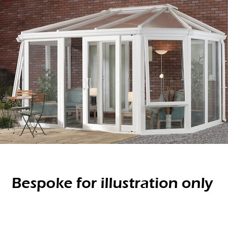 Gullwing full height DIY Conservatory 4000mm (d) x 7500mm (w)