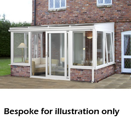 Lean To Dwarf Wall Conservatory 3000mm D X 4000mm W