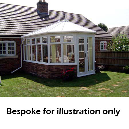 Victorian double hipped dwarf wall DIY Conservatory 4000mm (d) x 5000mm (w)