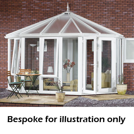 Victorian full height DIY Conservatory 5000mm (d) x 3500mm (w)