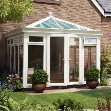 Capella Bespoke Glass to Ground Orangery 3500mm (d) x 4000mm (w)