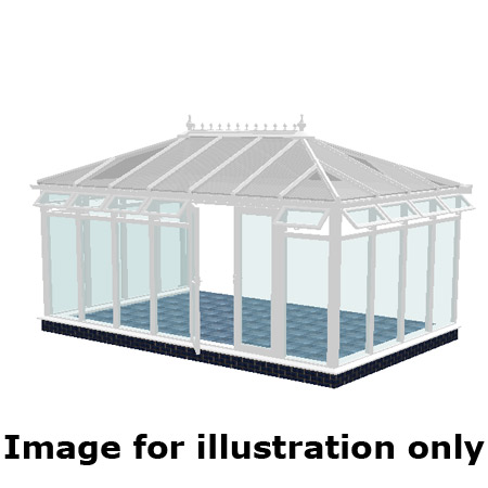 Edwardian double hipped full height DIY Conservatory 4000mm (d) x 4000mm (w)