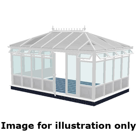Edwardian double hipped 'infill panel DIY Conservatory 4000mm (d) x 5500mm (w)