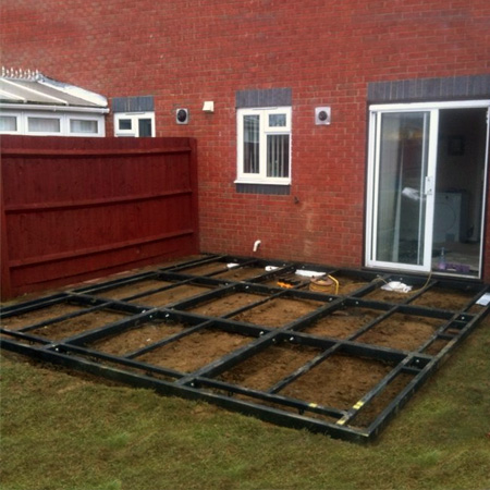 Traditional Conservatory Steel Base 3000mm(d) x 8000mm(w)