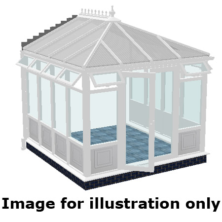 Edwardian infill panel DIY Conservatory 5000mm (d) x 4000mm (w)