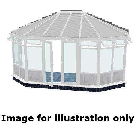 Gullwing infill panel DIY Conservatory 3000mm (d) x 7500mm (w)