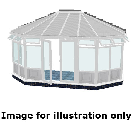 Gullwing infill panel DIY Conservatory 4000mm (d) x 9000mm (w)