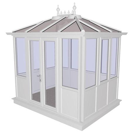 Kensington White PVCu Garden Building Lower Panel (Shiplap Style) 2858mm (w) x 2190mm (p)