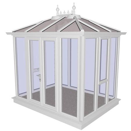 Kensington White PVCu Garden Building Full Height 2858mm (w) x 2190mm (p)
