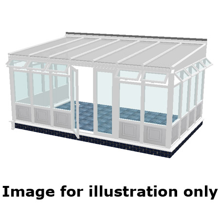 Lean to infill panel DIY Conservatory 3500mm (d) x 3000mm (w)