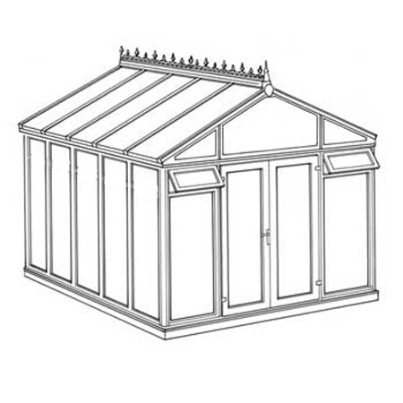 Interest Free Credit Pavilion Full Height DIY Conservatory 3158mm width x 3824mm projection