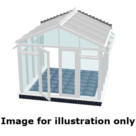 Pavilion full height DIY Conservatory 3000mm (d) x 3000mm (w)