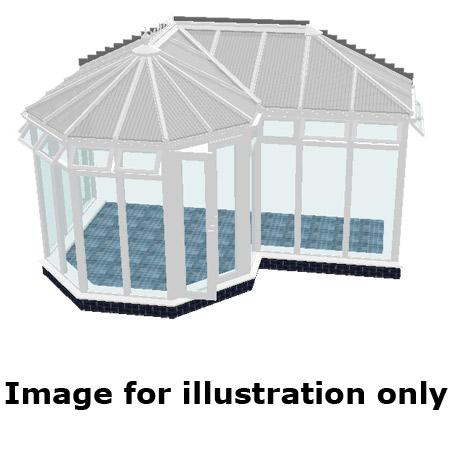 P shape Victorian full height DIY Conservatory 4000mm (d) x 7000mm (w)