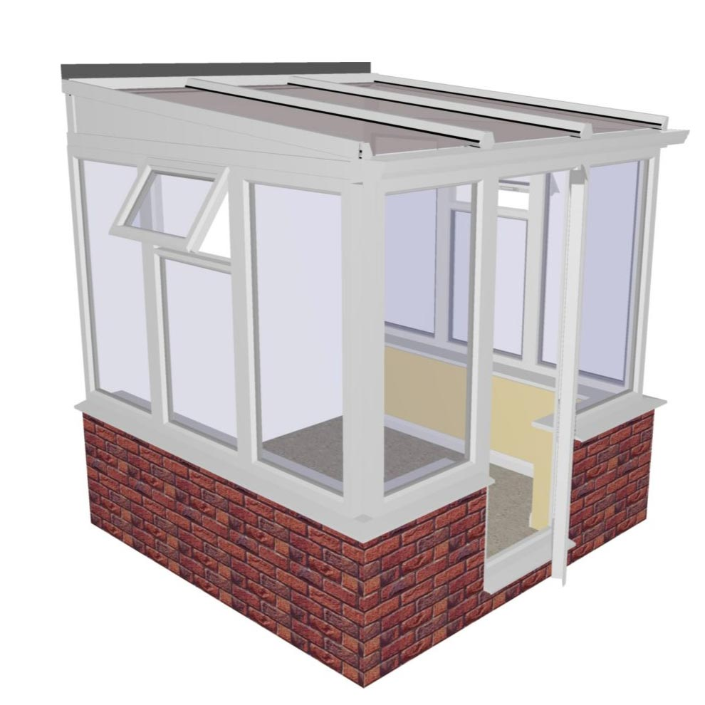 Lean To Dwarf Wall Conservatory 2415mm Width X 2338mm