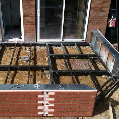 Gullwing Conservatory Steel Base & Dwarf Wall 3000mm(d) x 9000mm(w)