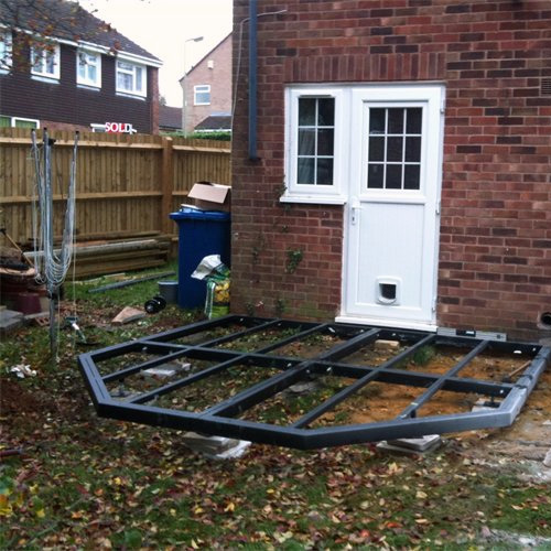 Victorian Conservatory Steel Base 3000mm(d) x 5500mm(w)