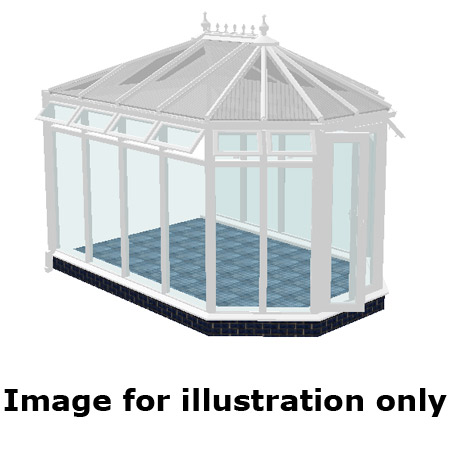 Victorian double hipped full height DIY Conservatory 3500mm (d) x 5000mm (w)