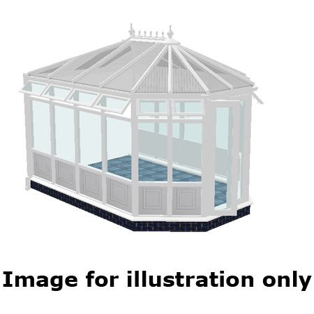 Victorian double hipped infill panel DIY Conservatory 5000mm (d) x 4000mm (w)