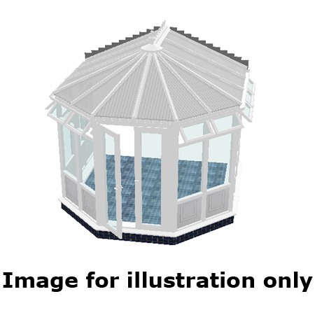 Victorian infill panel DIY Conservatory 5000mm (d) x 3500mm (w)