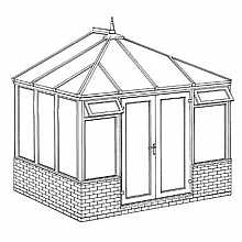 Interest Free Credit Edwardian Dwarf Wall DIY Conservatory 3158mm width x 2343mm projection