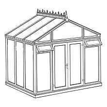 Pavilion Full Height Conservatory 3158mm width x 2338mm projection