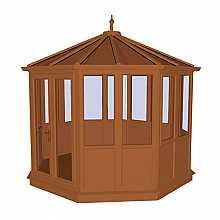Coniston Oak PVCu Garden Building Lower Panel (Shiplap Style) 2604mm (w) x 2604mm (p)