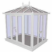 Kensington White PVCu Garden Building Full Height 3158mm (w) x 2415mm (p)