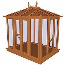 Kensington Oak PVCu Garden Building Full Height 2858mm (w) x 2190mm (p)