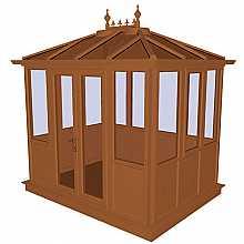 Kensington Oak PVCu Garden Building Lower Panel (Shiplap Style) 3158mm (w) x 2415mm (p)