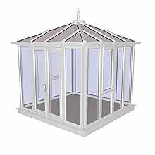 Langley White PVCu Garden Building Full Height 2858mm (w) x 2858mm (p)