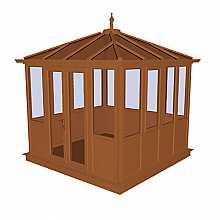 Langley Oak PVCu Garden Building Lower Panel (Shiplap Style)2858mm (w) x 2858mm (p)