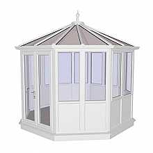 Coniston White PVCu Garden Building Lower Panel (Shiplap Style) 3444mm (w) x 3444mm(p)
