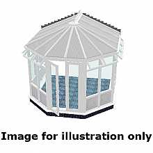 Victorian infill panel conservatory 3000mm (d) x 3500mm (w)