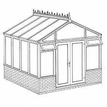 Pavilion Dwarf Wall DIY Conservatory 3158mm width x 3082mm projection