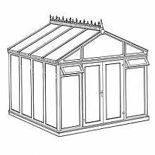 Pavilion Full Height DIY Conservatory 3158mm width x 3082mm projection