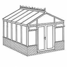 Pavilion Dwarf Wall DIY Conservatory 3158mm width x 3824mm projection