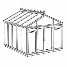 Pavilion Full Height DIY Conservatory 3158mm width x 3824mm projection